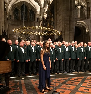 Picture of Rosa Valentine Bennet singing with Hereford Police Choir